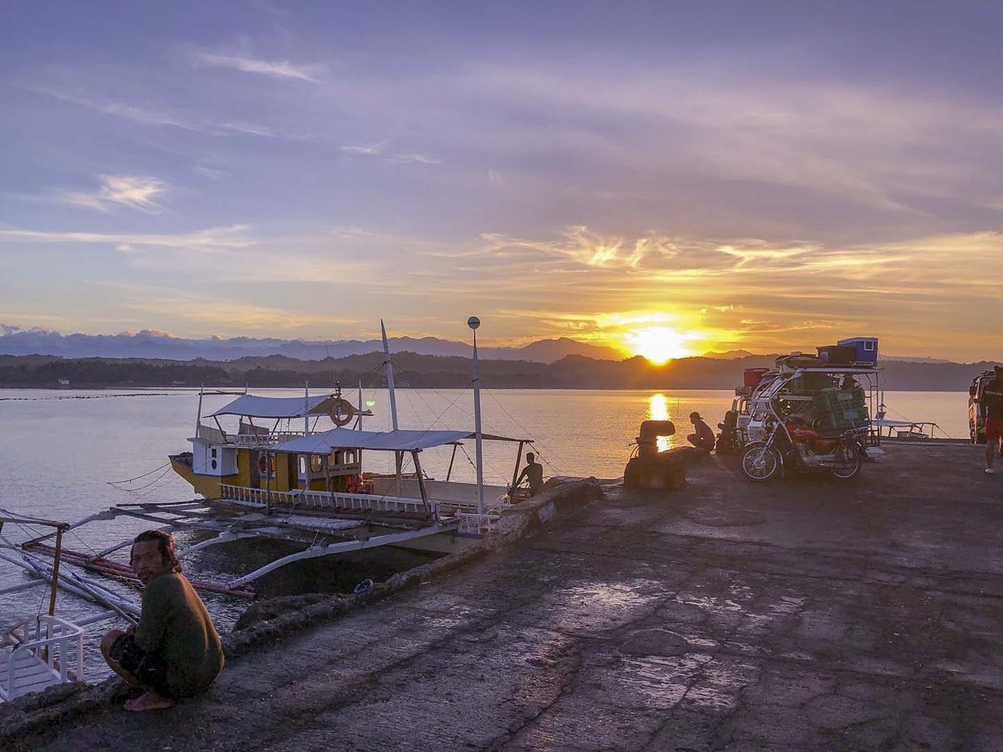 Sunrise at the pier in Sablayan, Occidental Mindoro