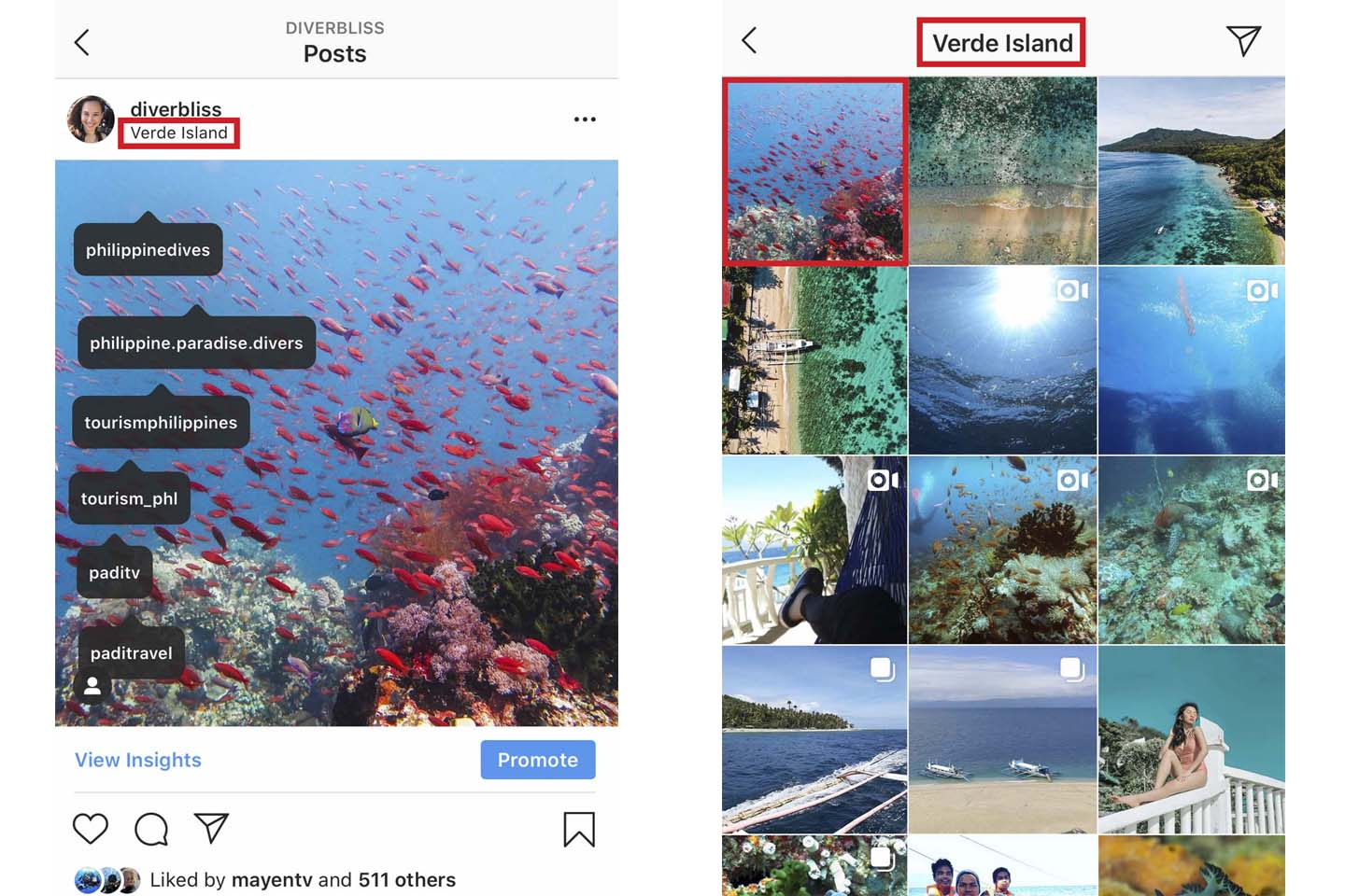 grow your ocean-inspired instagram account as an ocean advocate by using the correct geo-tag locations
