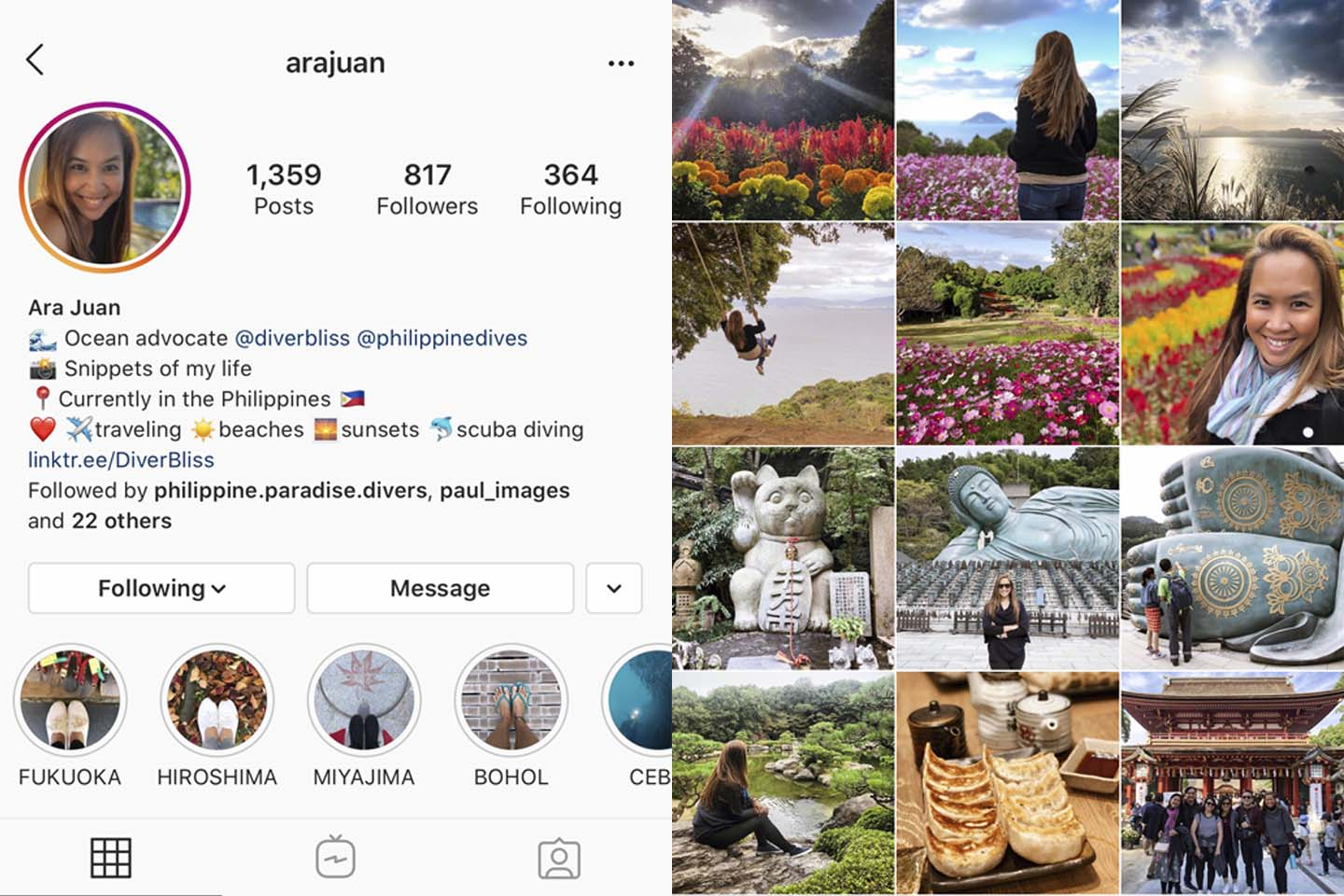 @arajuan instagram account focuses on personal life geared towards sharing content for family and friends