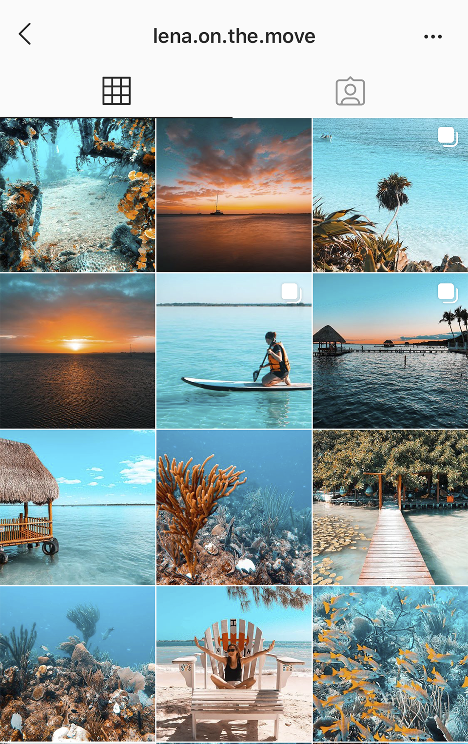@lena.on.the.move uses a teal and orange pantone on her images