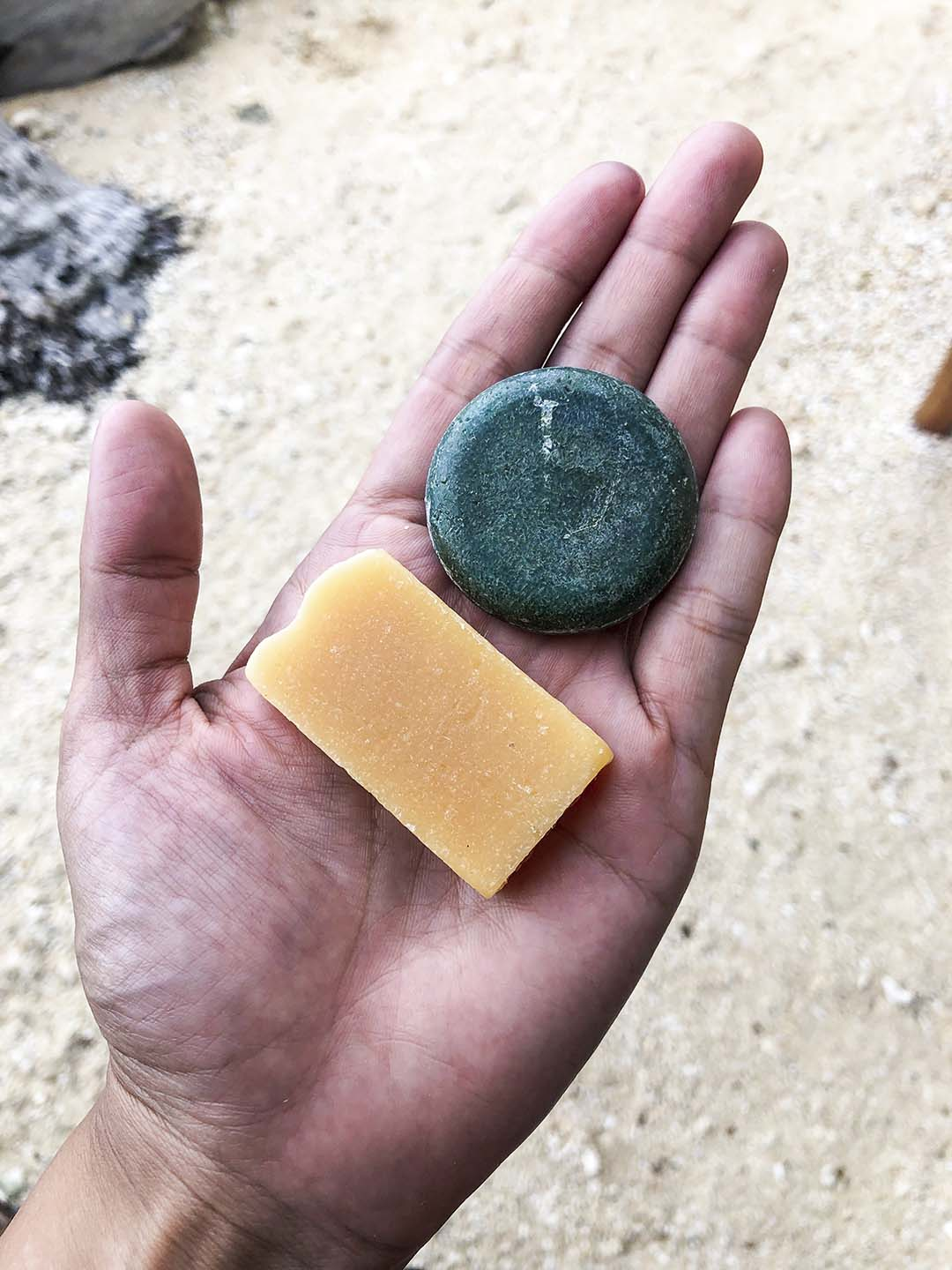 Eco-friendly soap and shampoo from Pawikan Eco-Dive Resort