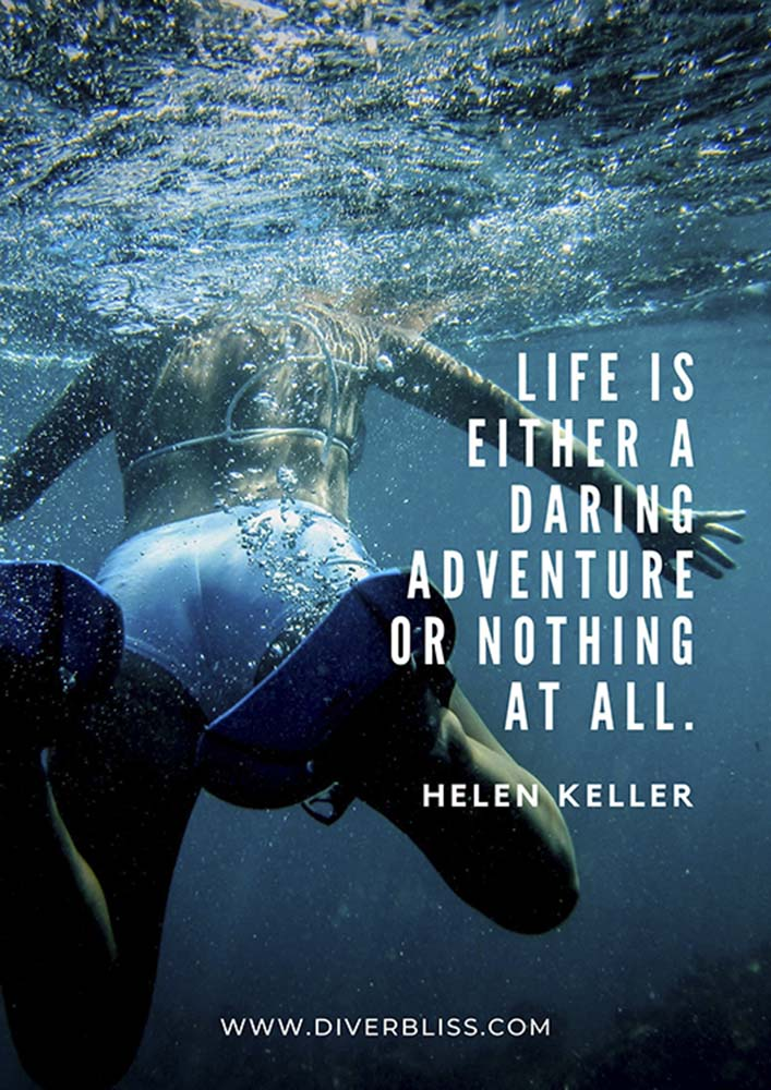 """Travel Quotes Poster: """"Life is either a daring adventure or nothing at all."""" -Helen Keller"""