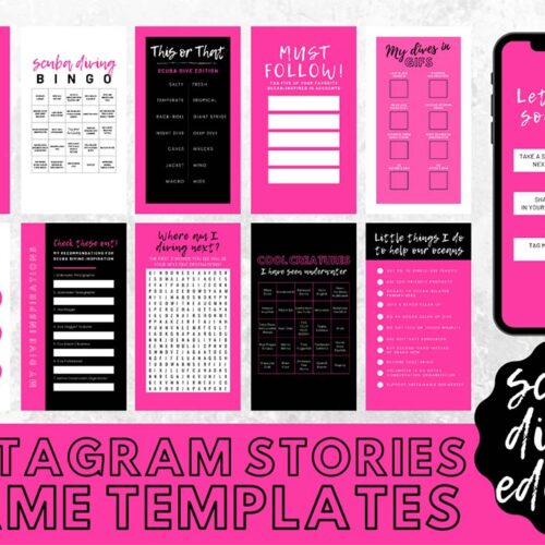 Instagram Stories Game Templates for Ocean Advocates- Pink