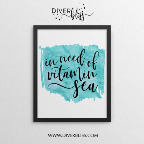 In need of vitamin sea poster
