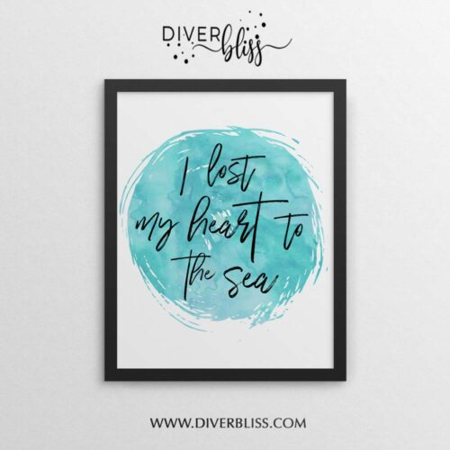 I lost my heart to the sea poster