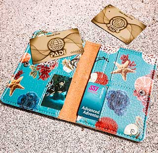 Best Scuba Diving Gift for Her: Dive Certification Card Holder from Girls that Scuba