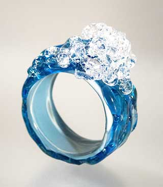 Scuba Diving Gifts for her: Ocean Wave Cocktail Ring by Drift Land