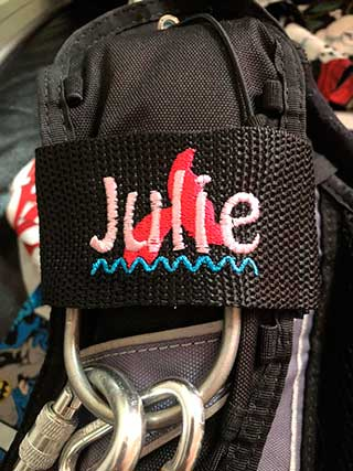 Unique Scuba Diving Gift: Personalized Embroidered Scuba BCD Name Tag Badge