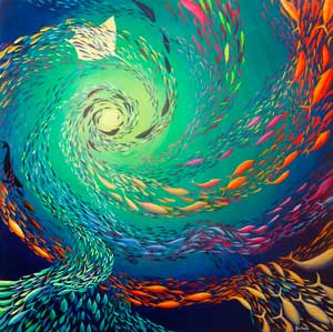 Fish Nautilus Abstract – Original Painting by Deep Impression