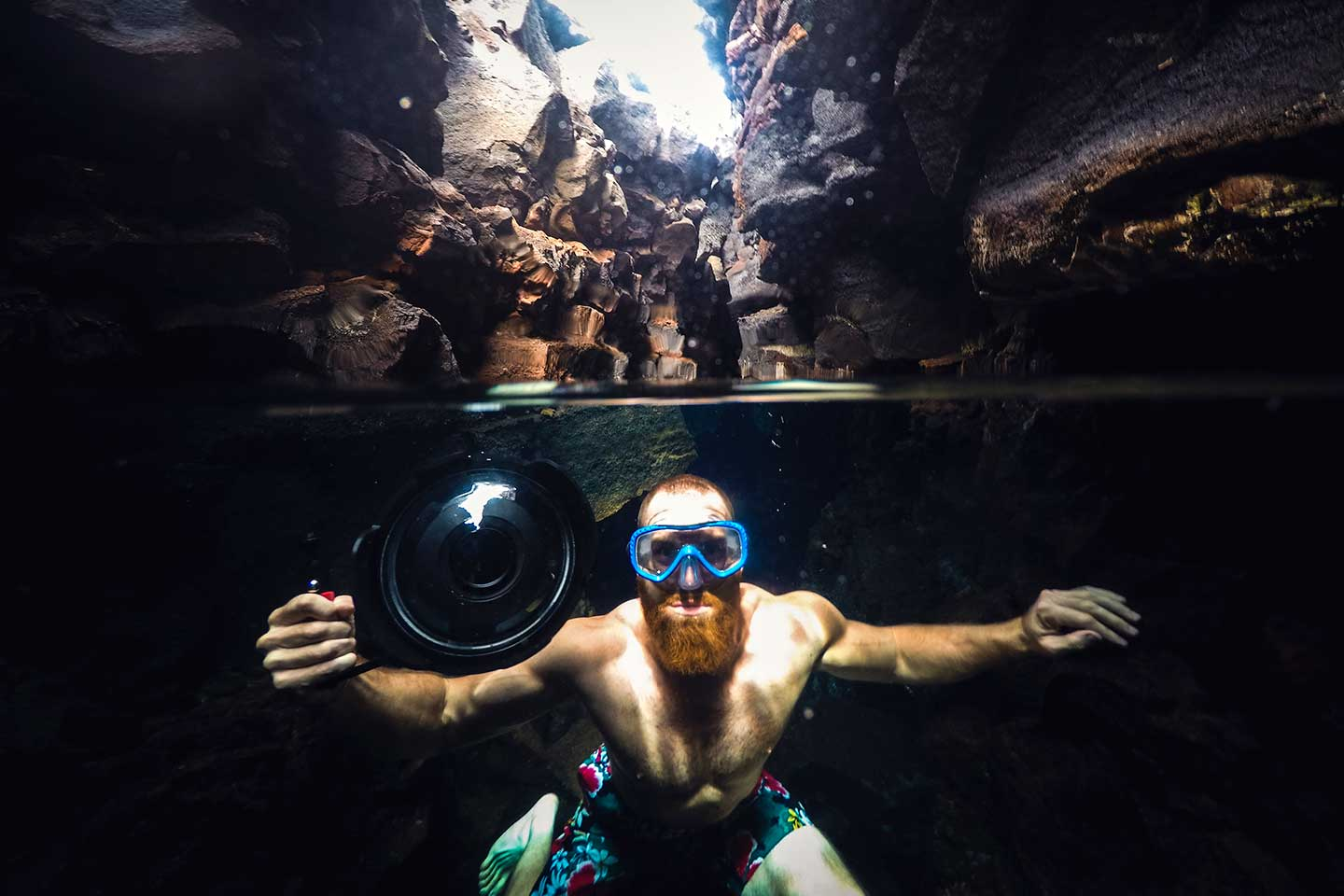 Gopro underwater photography tips: Get a GoPro Dome Port for over undershot