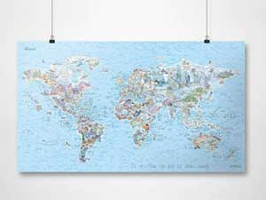 World Dive Map by Awesome Maps