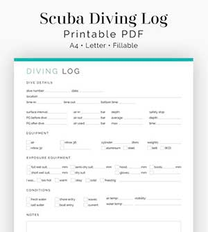 Fillable Divers Log Book by Neat and Tidy Design