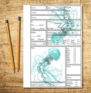 Jellyfish Printable Log book by Electric Seahorse