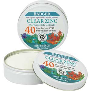 Shop Clear Zinc Sport Sunscreen Tin from Badger