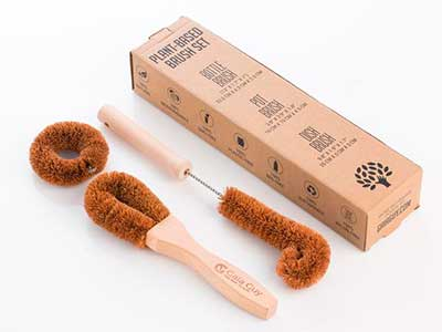coconut bristle brushes from Hi Gaia Guy