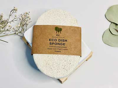 loofah dish sponges from Mother Earth Me