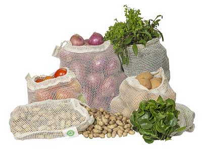 Mesh Produce Bags from Organic Cotton Mart