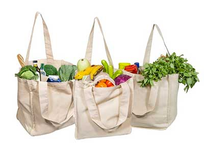 Tote Bags with Bottle Sleeves from Organic Cotton Mart