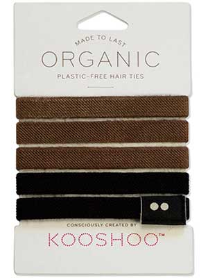 Organic plastic-free hair ties from Kooshoo