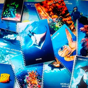 personalized log books by Dive Proof