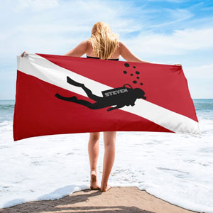 Personalized scuba towel from On Trends Shirt