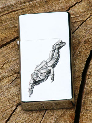 Scuba diving lighter with engraving by Gamekeepers Gifts
