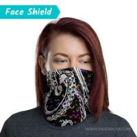Crazy Octopus Face Cover on Woman