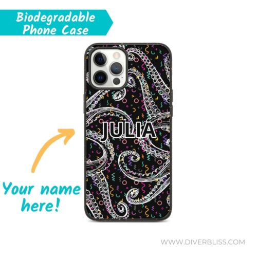 Octopus Tentacles name biodegradable phone case