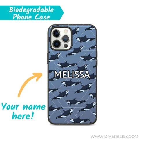Orca Killer Whale Phone Case with Your Name