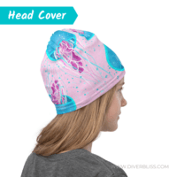 Pink Blue Jellyfish Head Cover