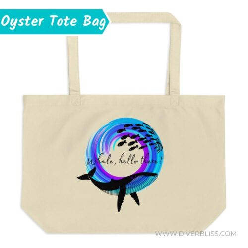 Whale Tote Bag Natural