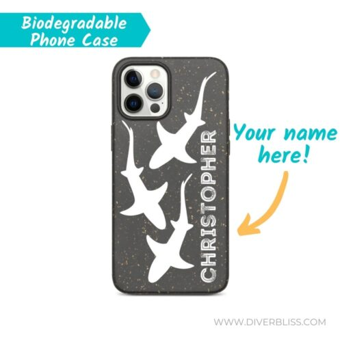 Your Name on Sharks Design biodegradable phone case