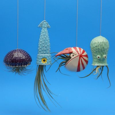 Sea Creature Hanging Planters from Cindy Searles