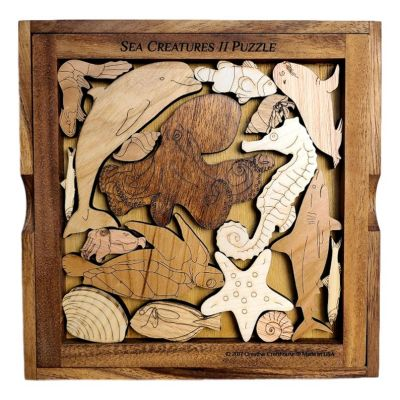 Marine Life Wooden Puzzle from Creative Crafthouse