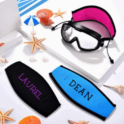 Personalized Neoprene Mask Strap Cover by Glamourous Elephant