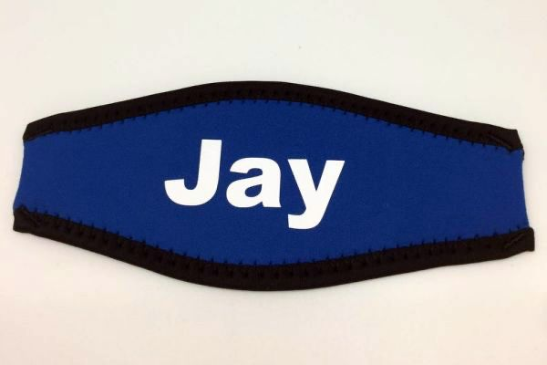 Personalized Neoprene Scuba Mask Strap by North Shore Laie Point