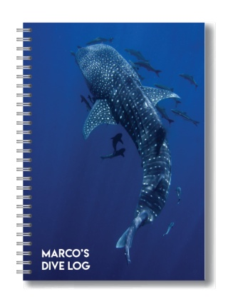 whale shark dive log book from Dive Proof